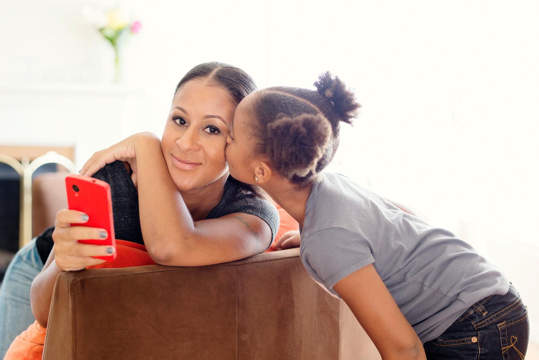Angela Benton and her daughter. Photo credit: Sarah Hebenstreit of Modern Kids Co.