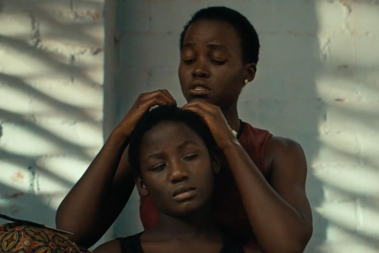 A still from the movie  Queen of Katwe  starring Lupita Nyong'o and newcomer Madina Nalwanga.