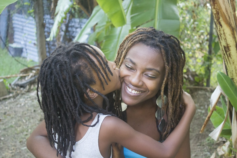 Akilah Richards with Sage, her youngest daughter.