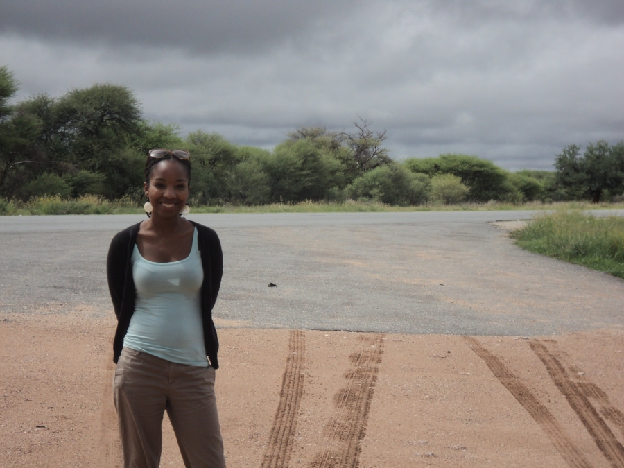 Kaylan during her second week in Namibia.