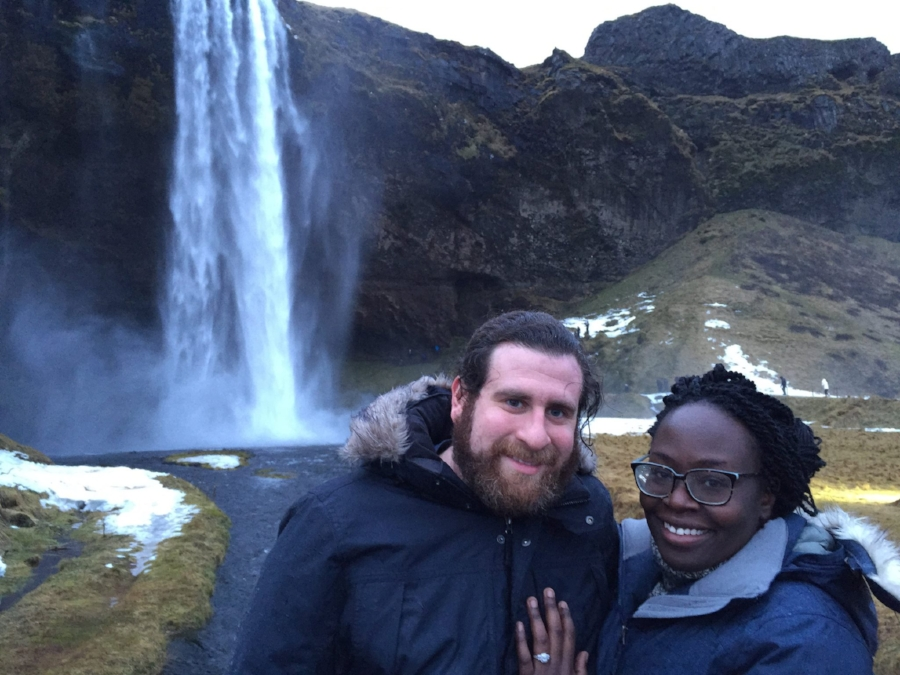 Scott and I in Iceland, where he proposed.