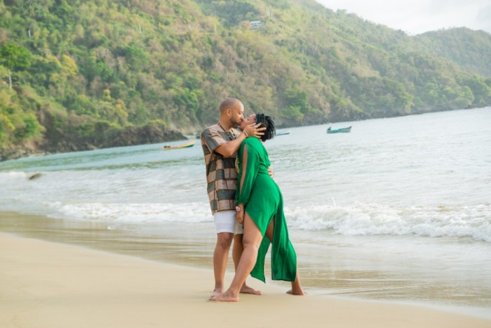 """""""Love keeps me living. Celebrating the first day of our wedding ceremonies on Castara Beach in Tobago."""" (Photo credit:  ShocPhoto Imagery )"""