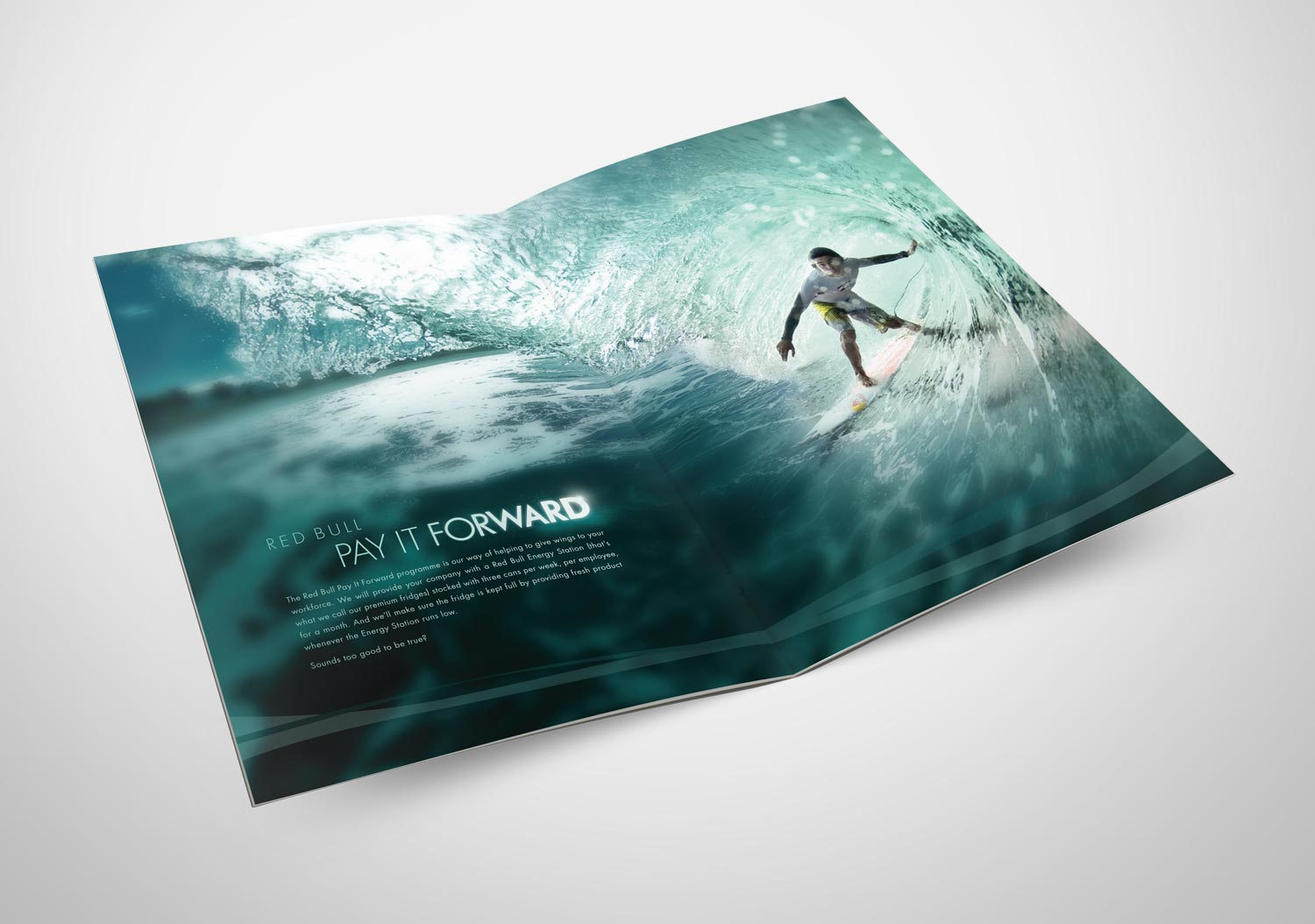 Red Bull | Pay It Forward | Brochure Spread | 1