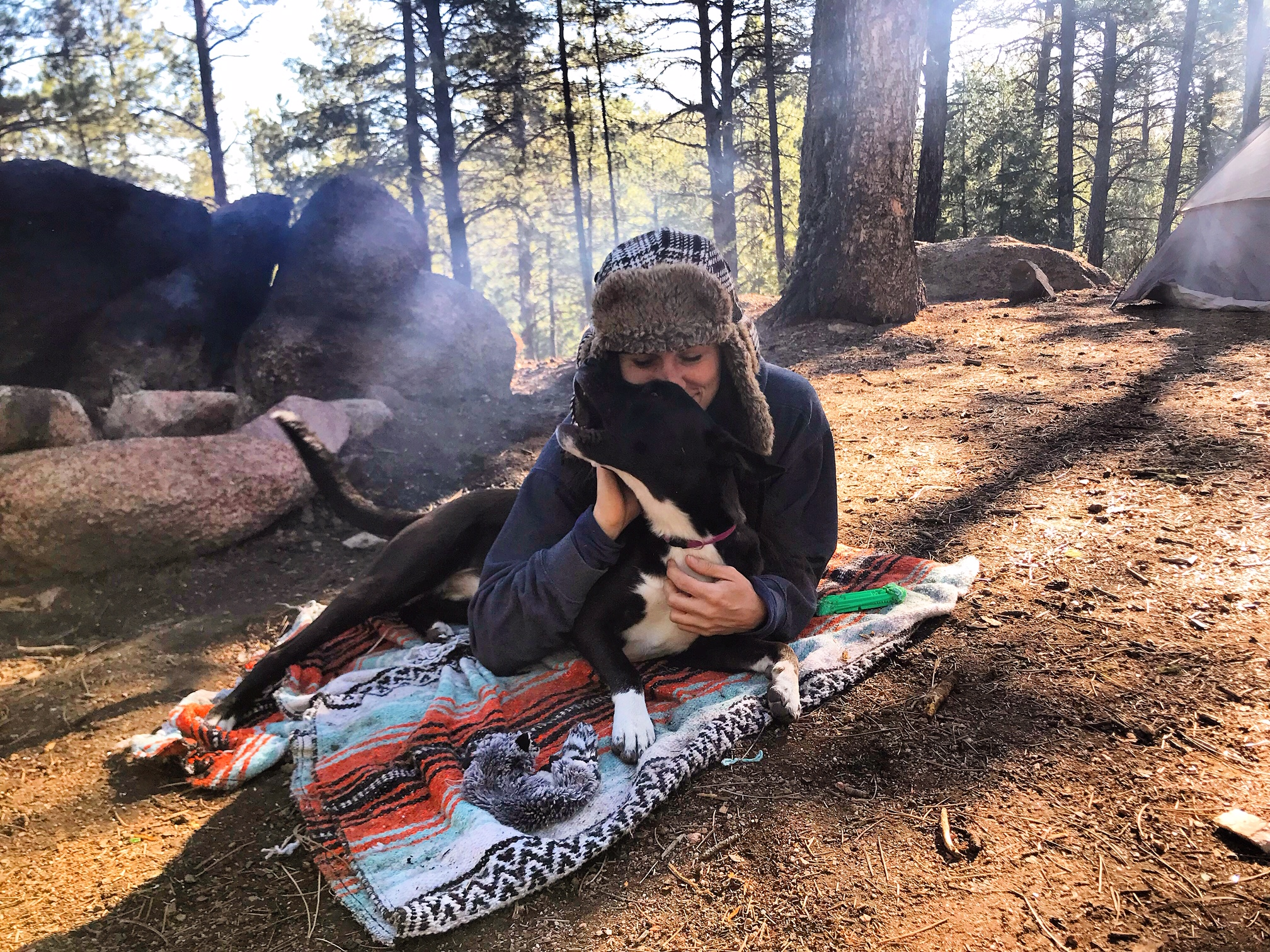 Turning 29 means camping in Colorado with my puppy every weekend.