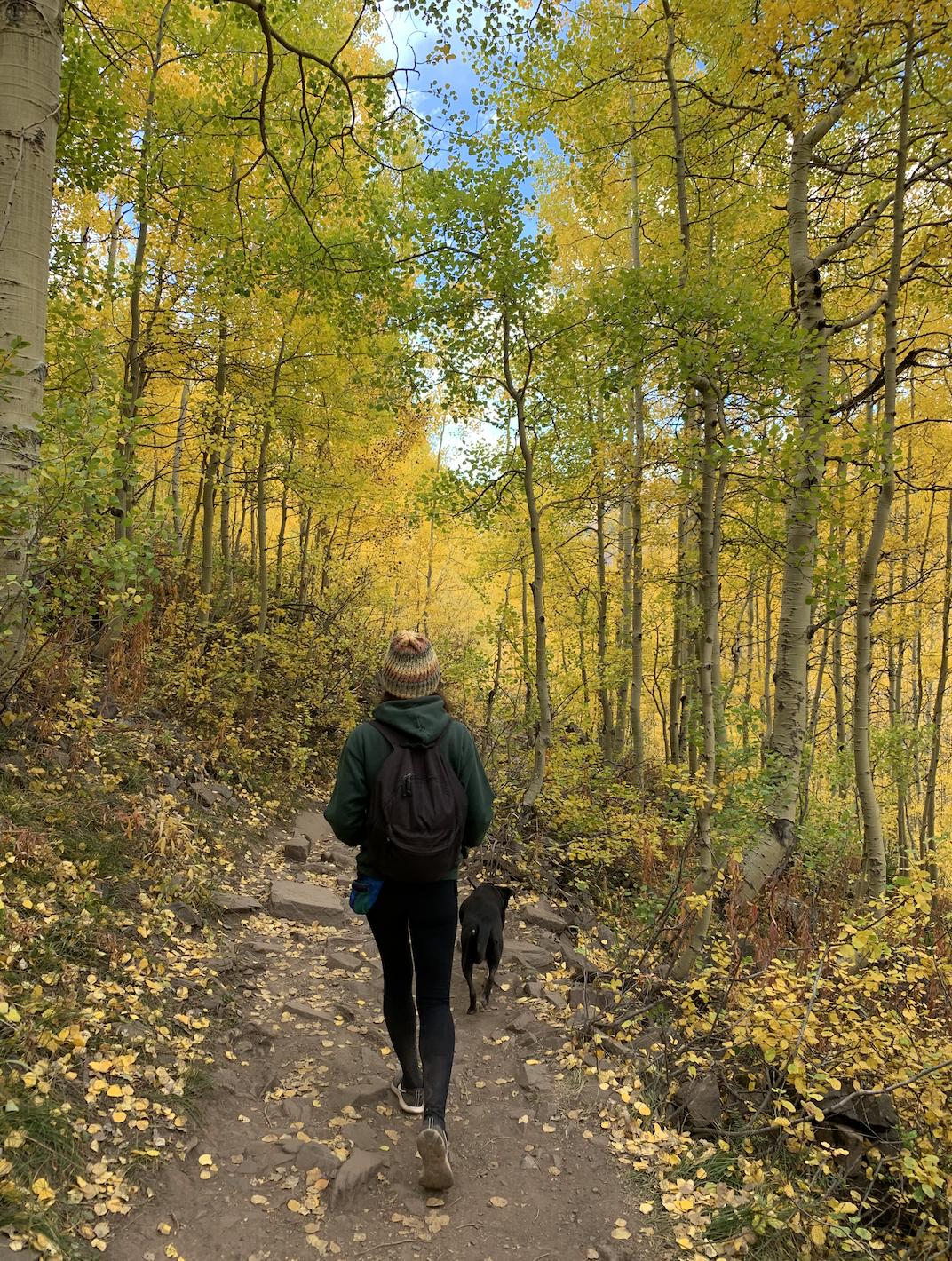 Hiking in Maroon Bells, Colorado