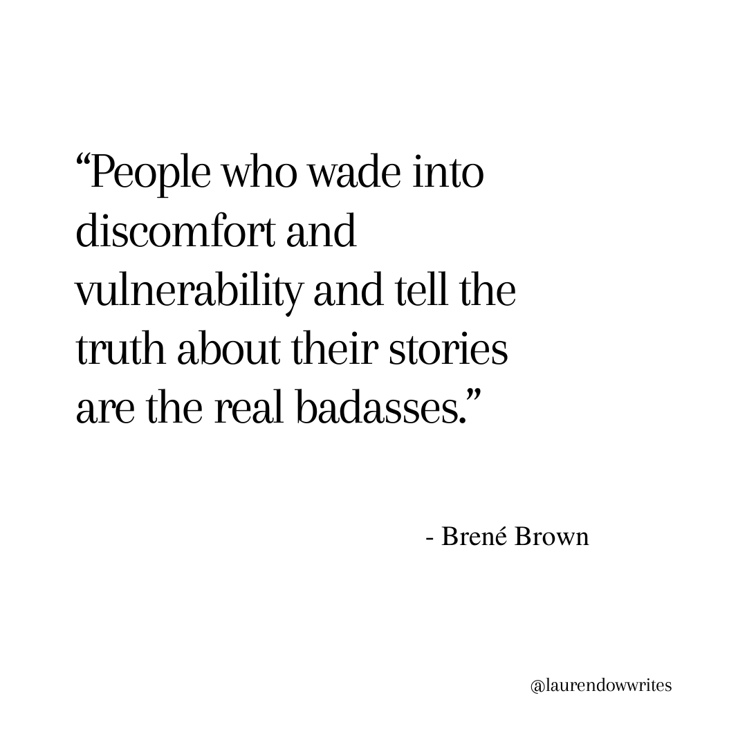 Quote from Brené Brown.