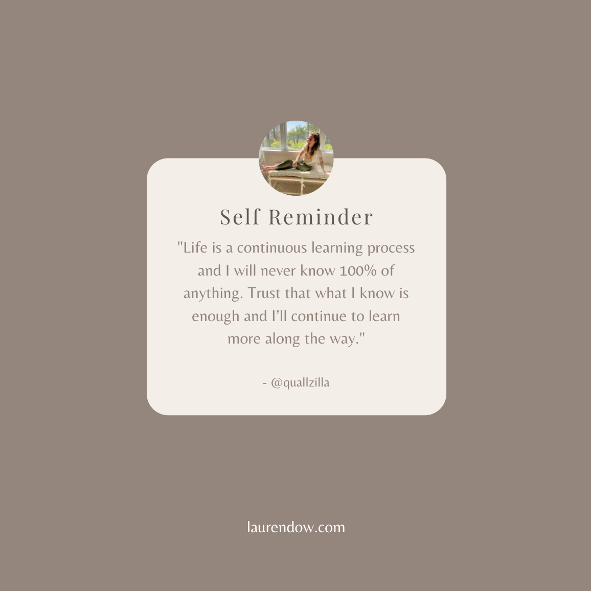 Self-love quote, a reminder.