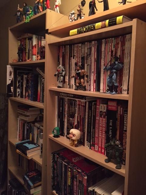 Michael's bookshelf.