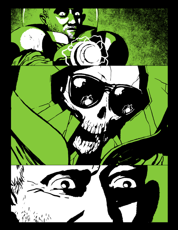 Page from Vile #1 The Cowards Hole
