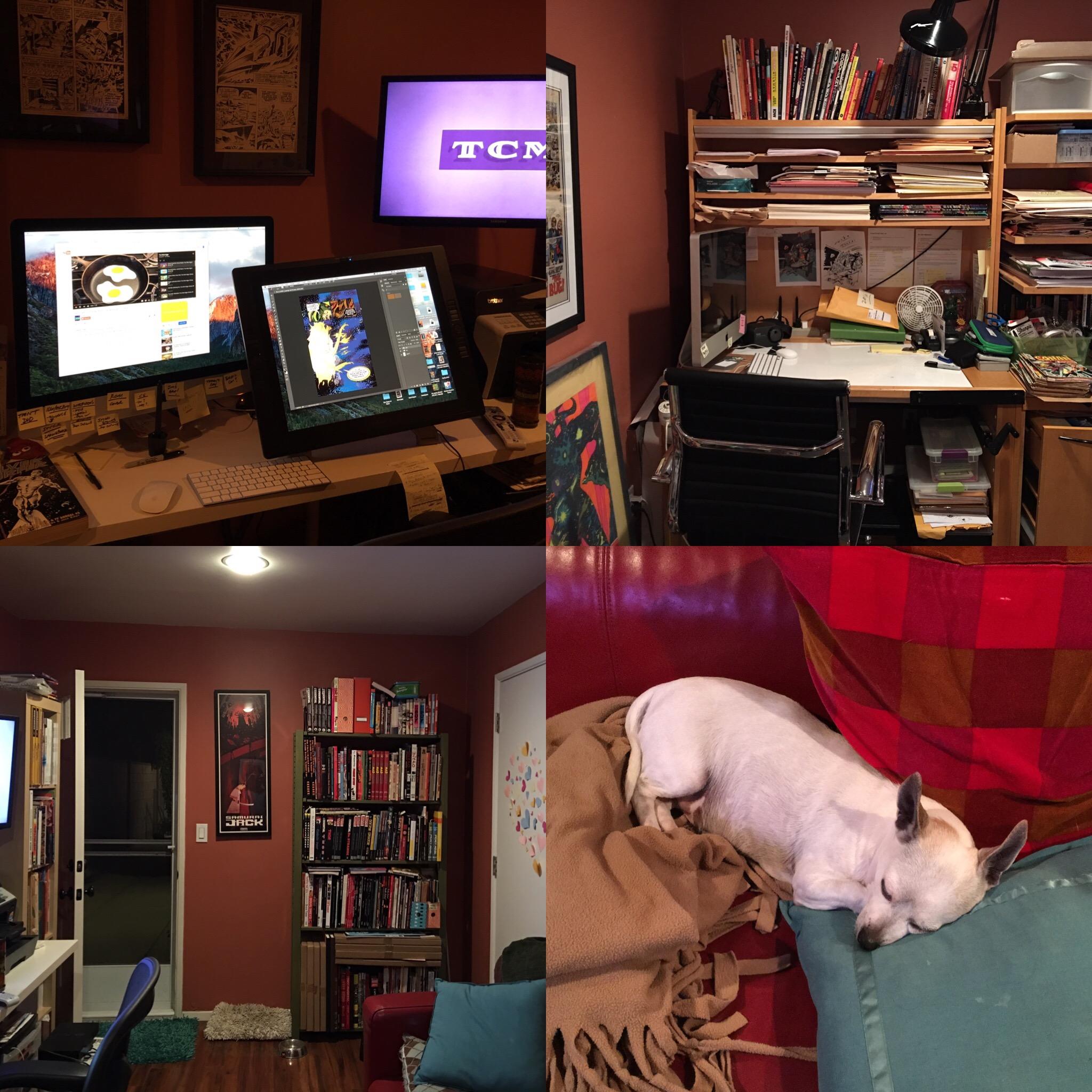 Andy's studio.