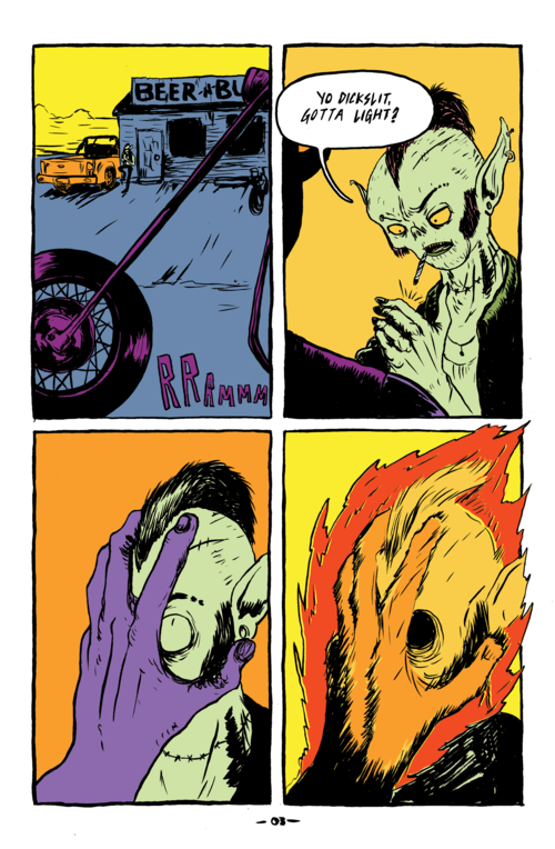 Sample from Verdugo #1. Its on fire.