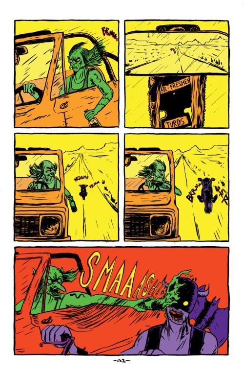 From Verdugo #1. Goblins are dicks.