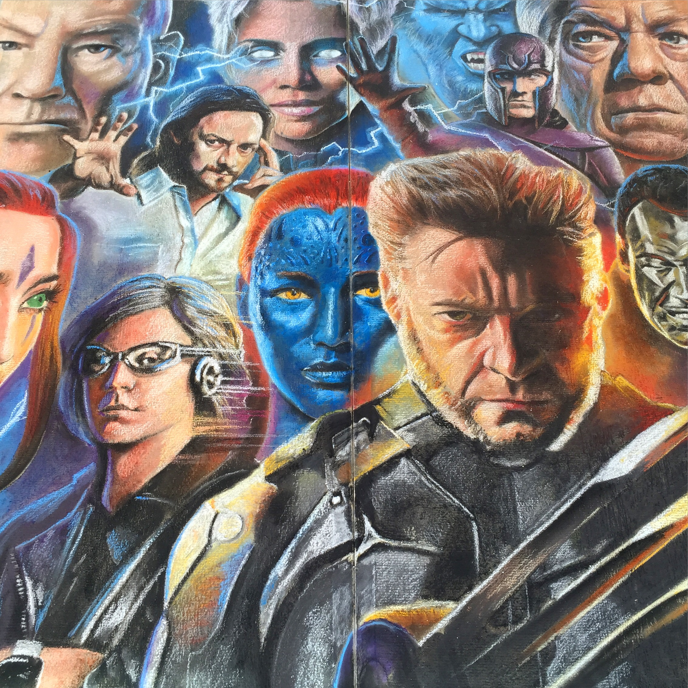 2D Chalk Art: X-Men
