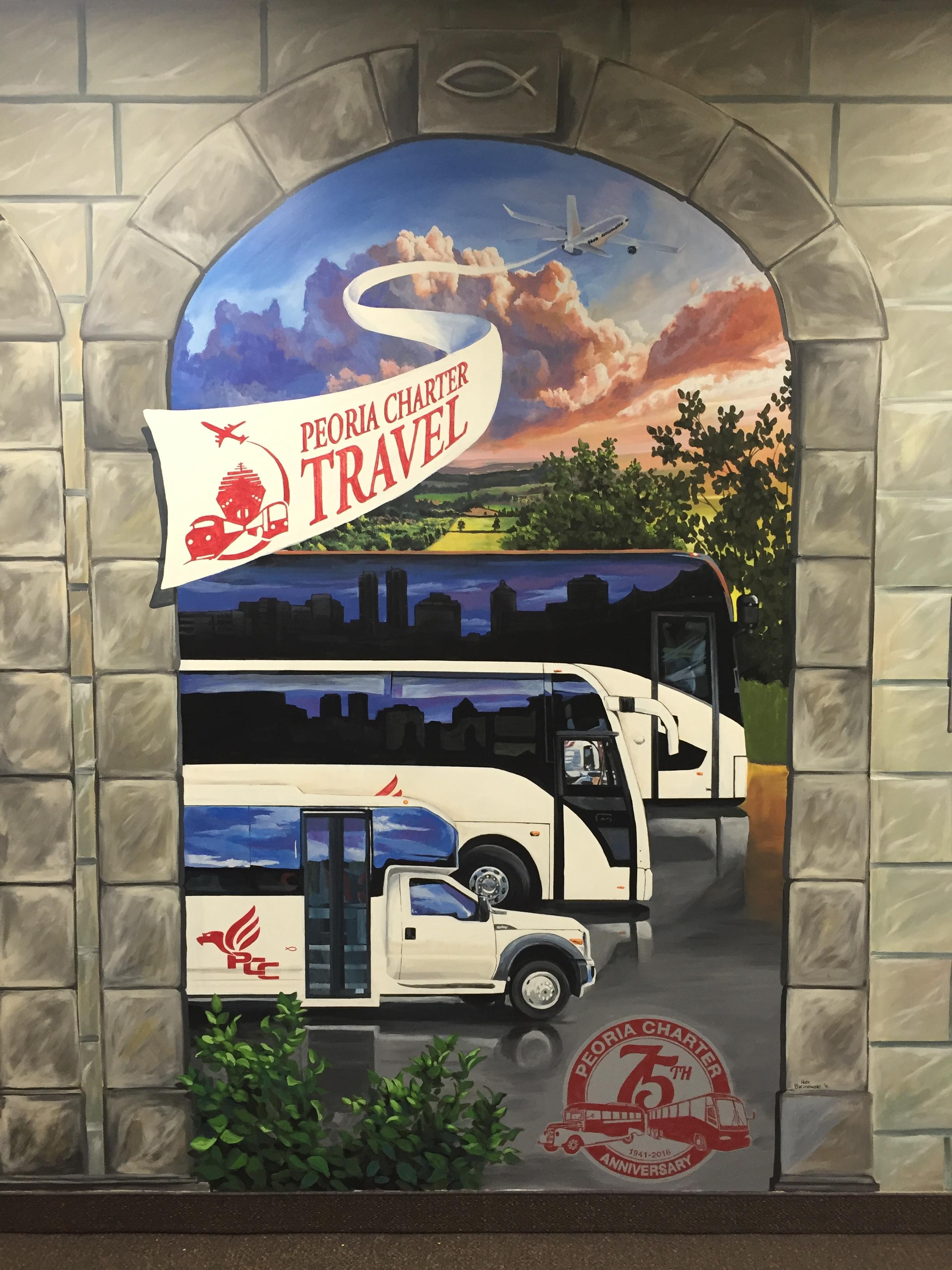 Peoria Charter Coach Mural