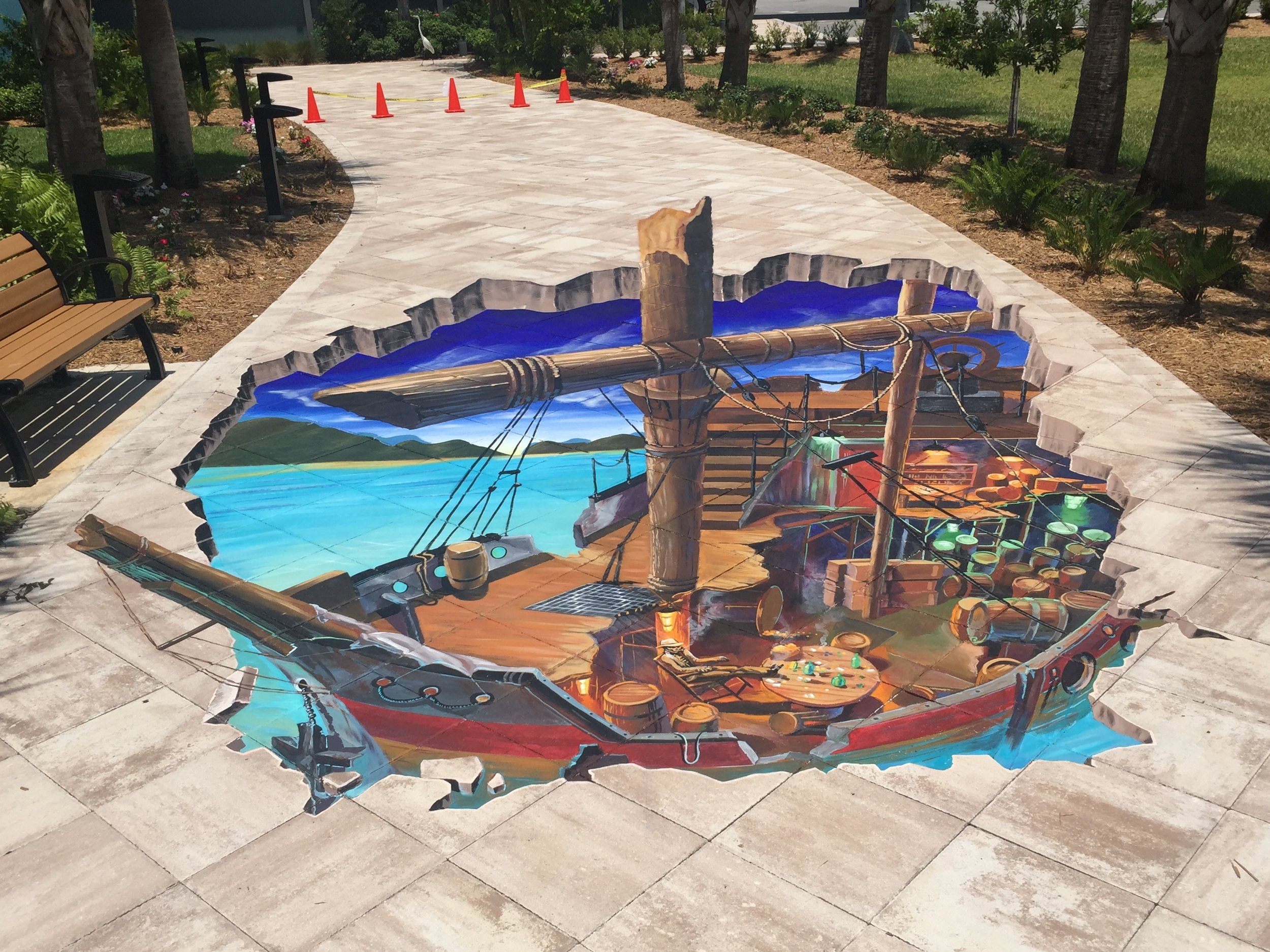3D Street Painting: Shipwreck