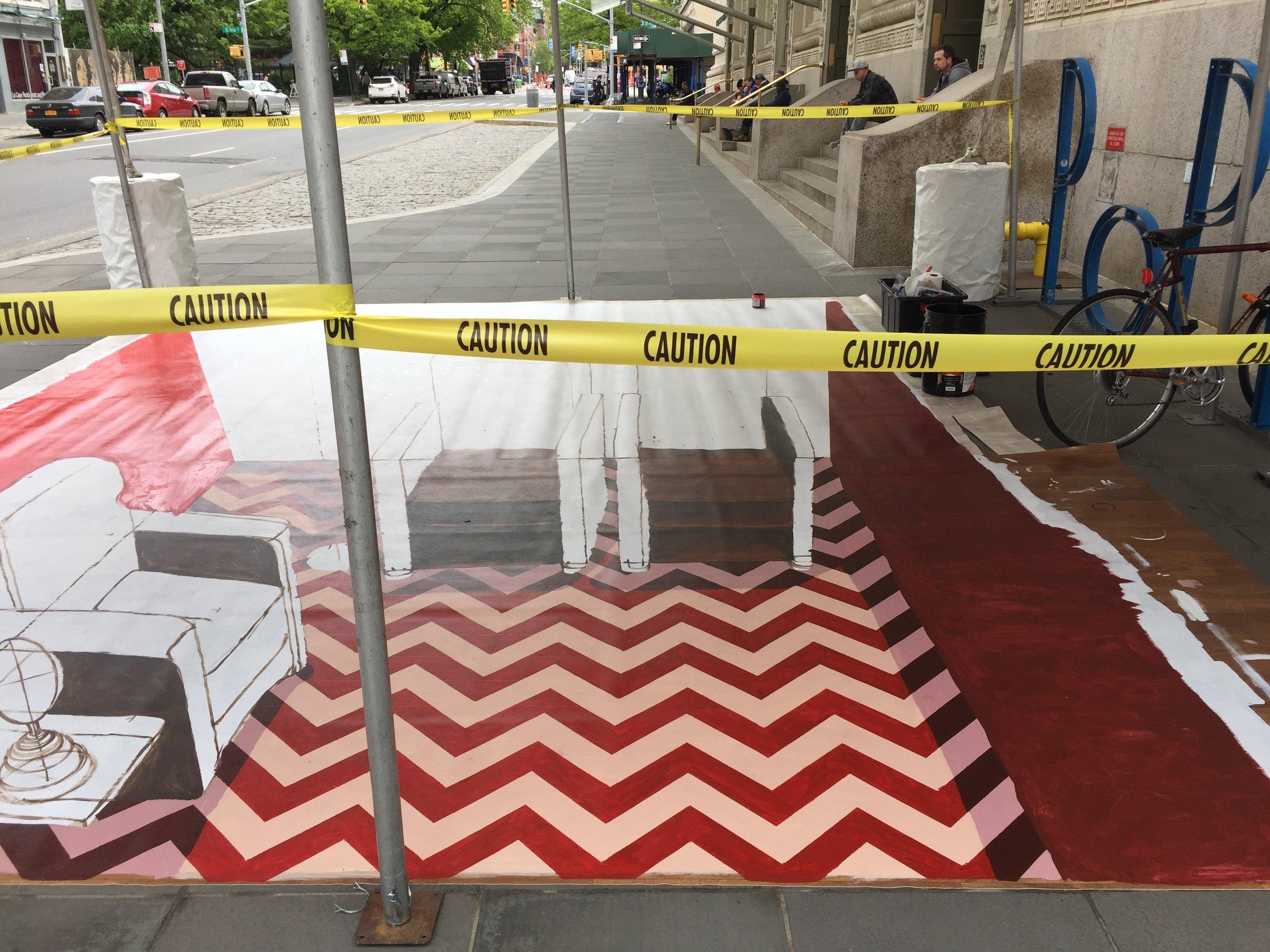 Twin Peaks 3D Street Painting