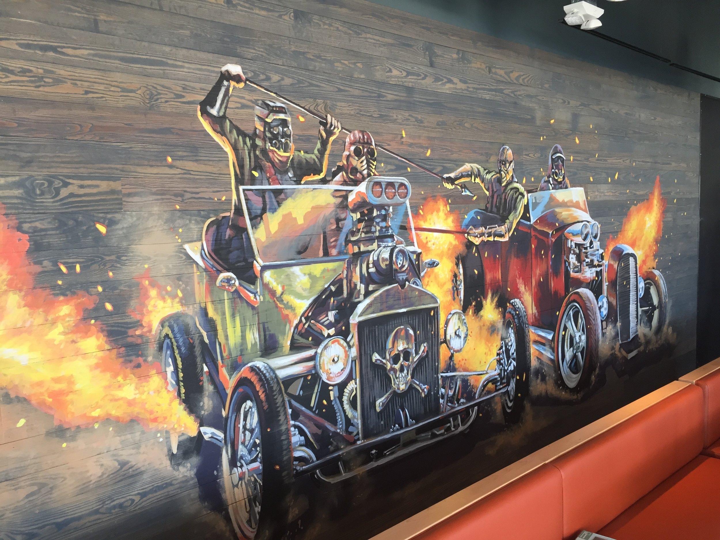 Final Racing Cars Mural