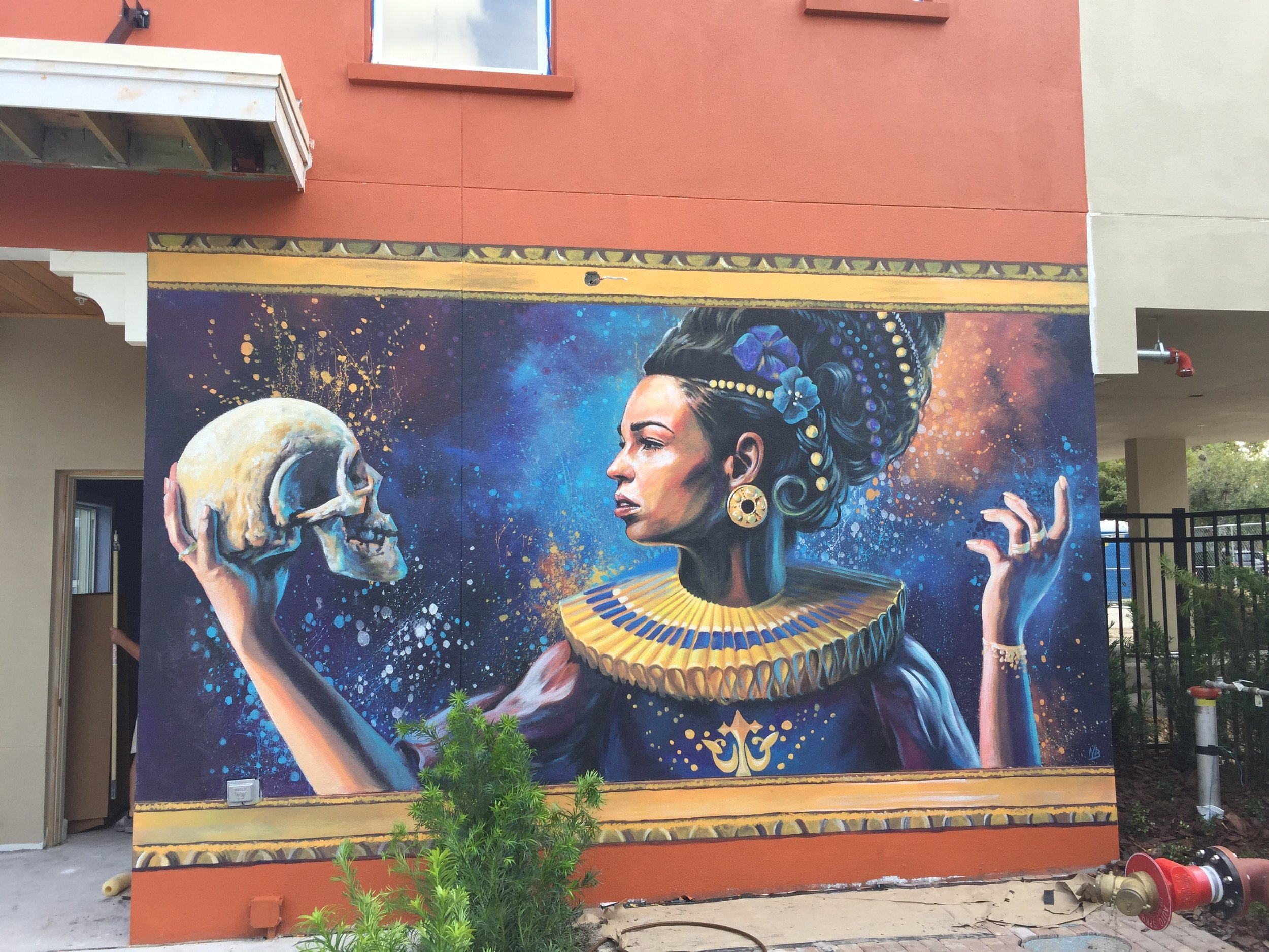 Finished Lady Hamlet Mural