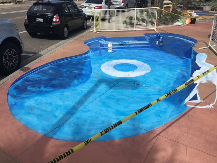 Clearwater Beach Chalk Walk 3D Swimming Pool — Nate Baranowski