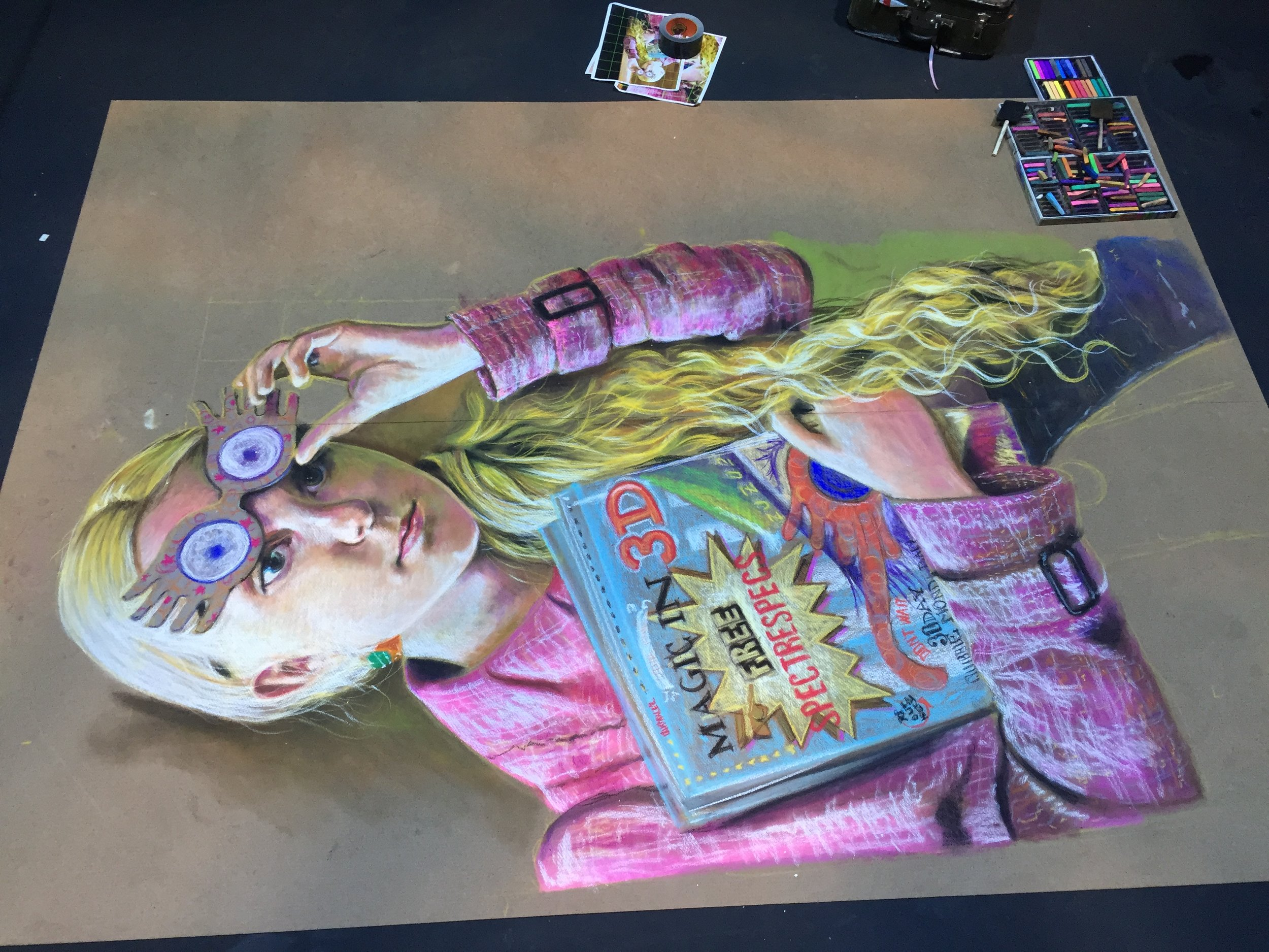 Luna Lovegood Chalk Art