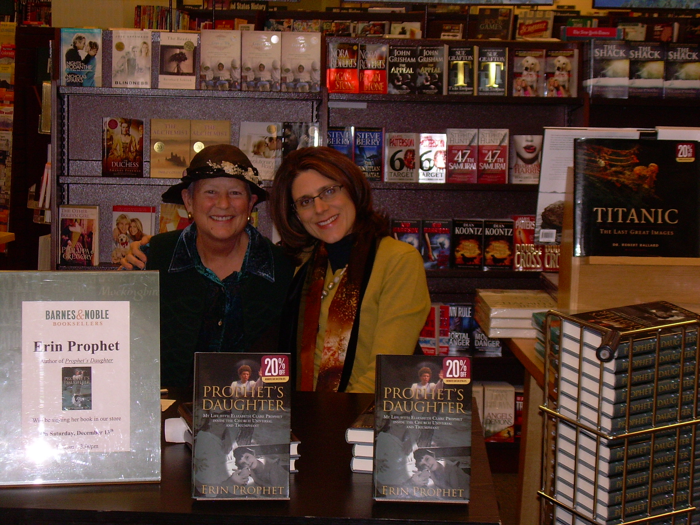 With Kathleen Stanley at the Barnes and Noble bookstore in Bozeman, Montana. December 2008. Kathleen supported my book and helped to organize the talk I gave about it at the library. She was an inspiration!