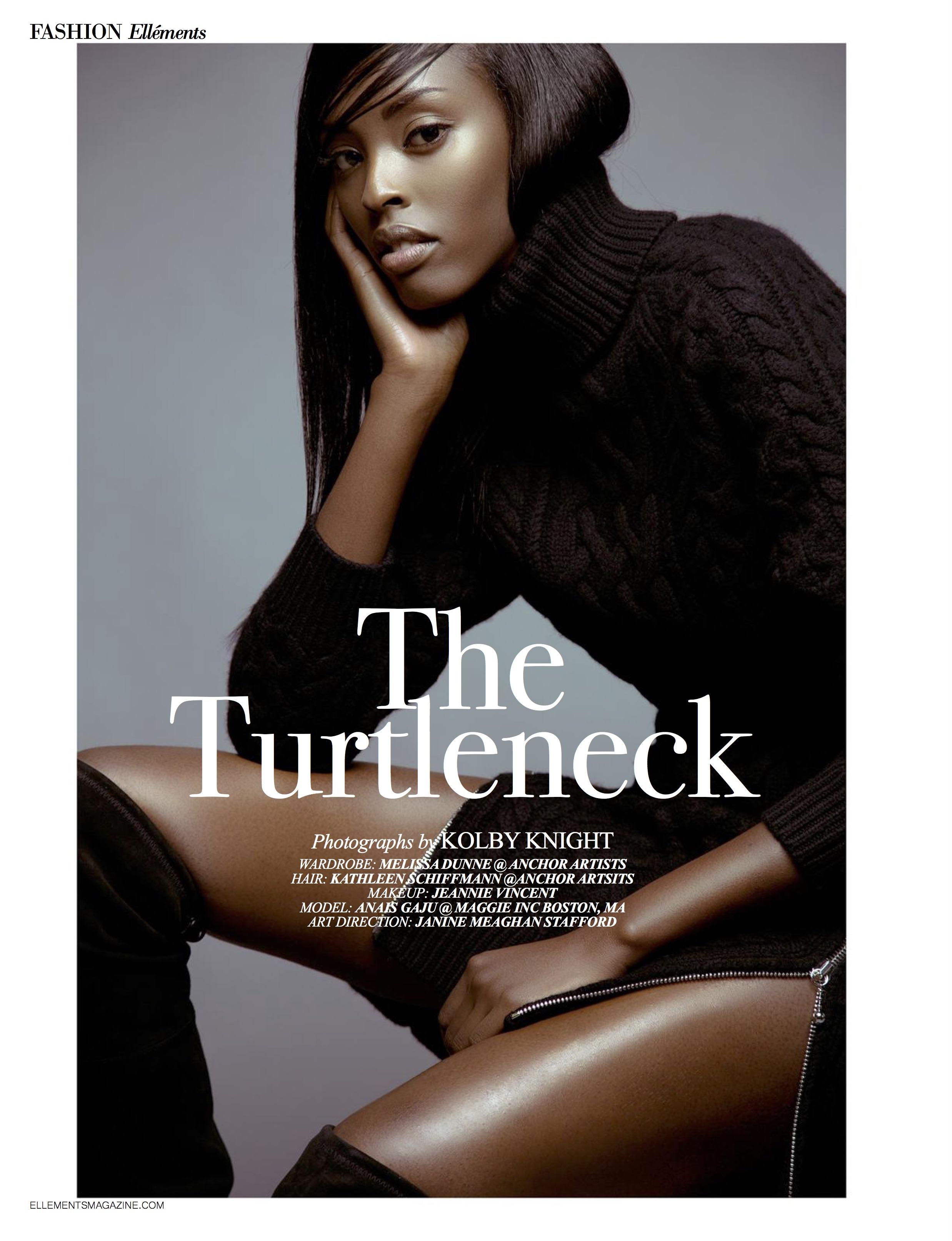 """The Turtleneck"" Ellements Magazine, Nov 2015"