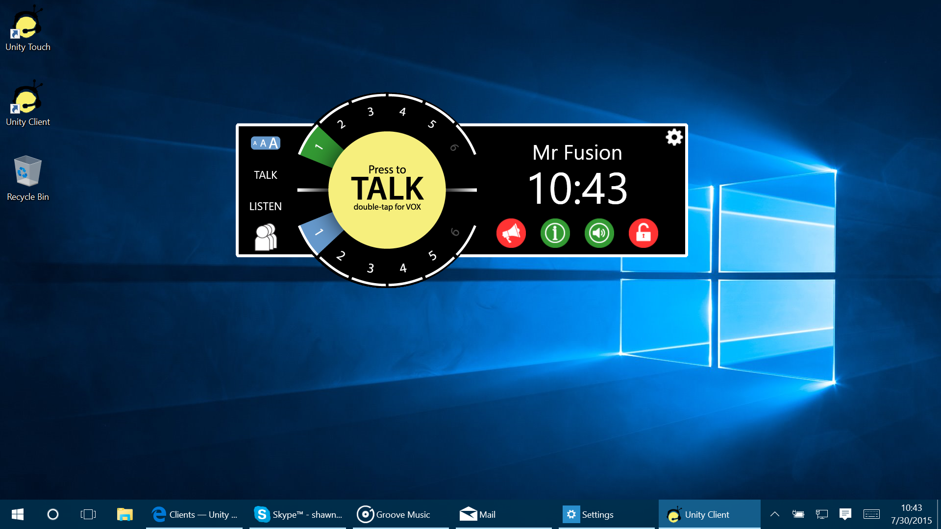 New Unity Windows Client