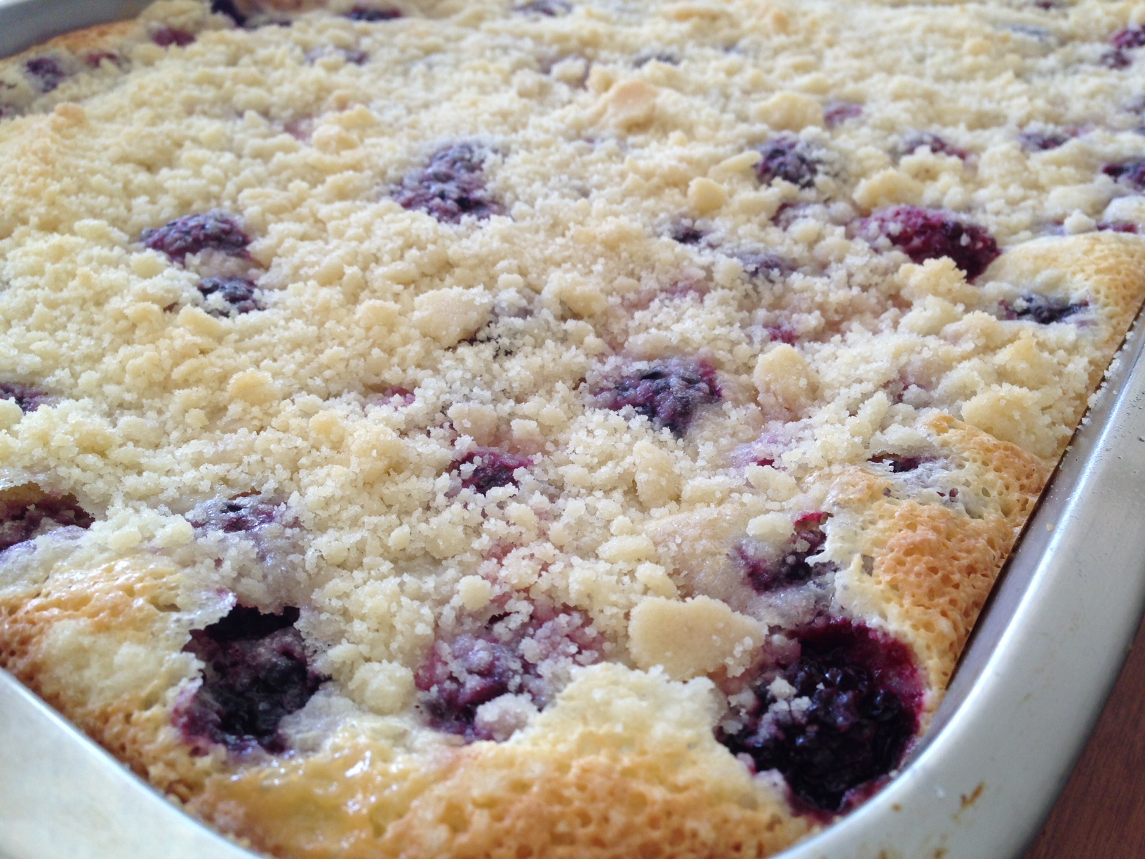 Yum, Yum, Yum! Blackberry pie bars.