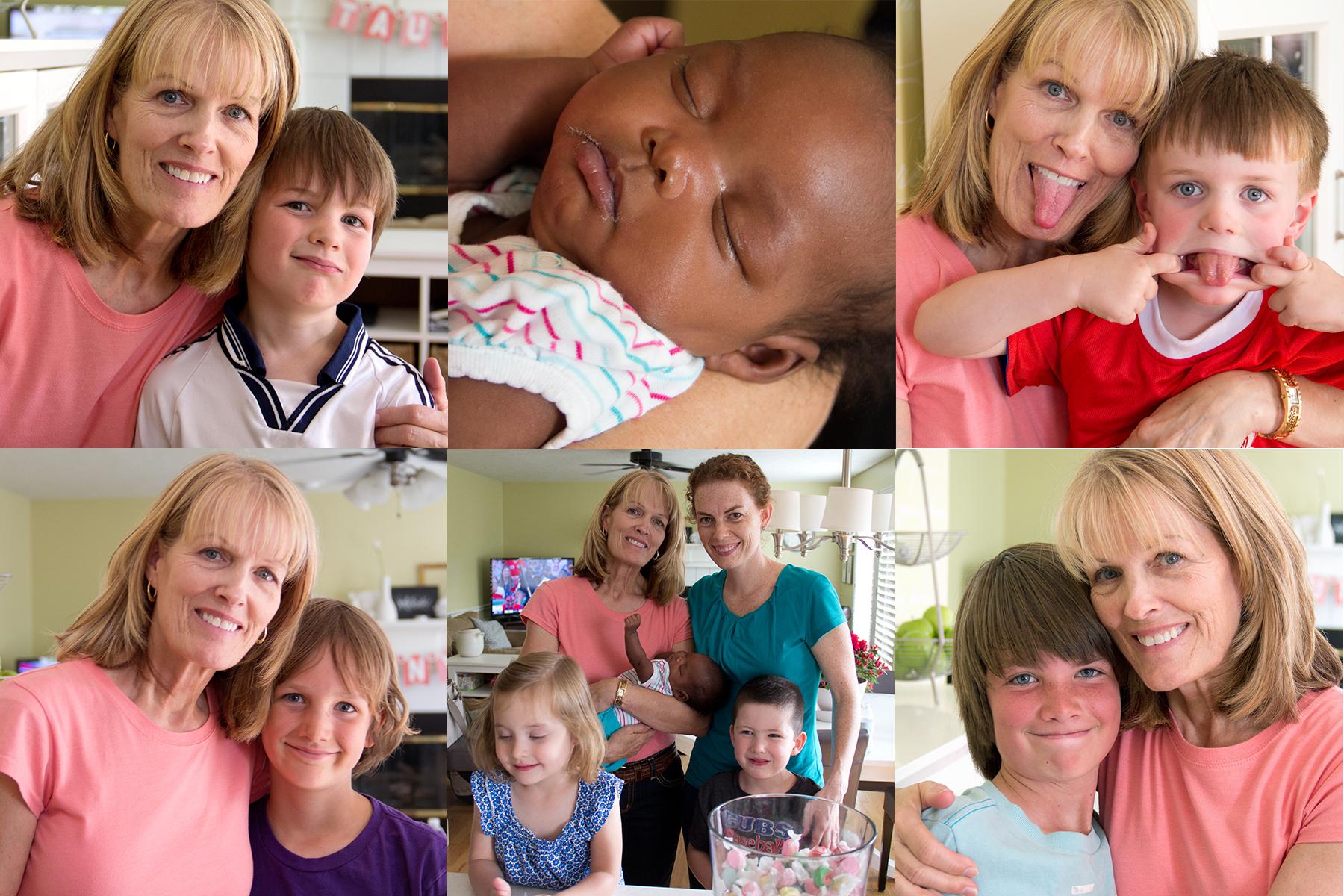 Taunya and various kiddos