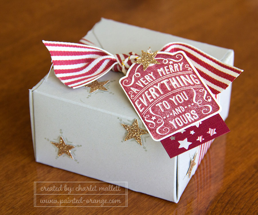 Merry Everything gift box - Gift box punch board