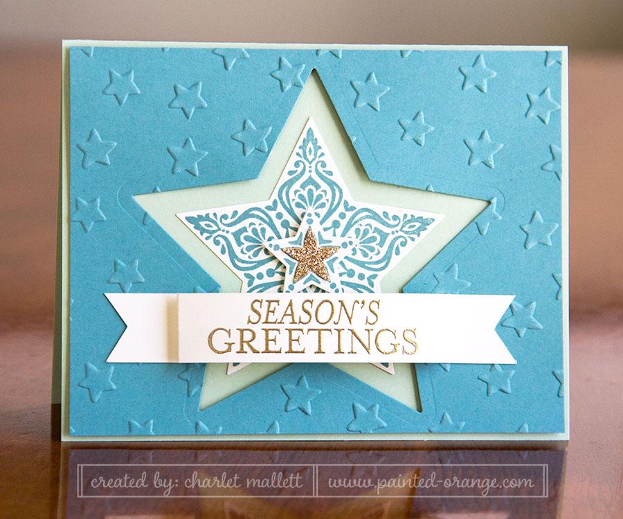 Bright & Beautiful Card, Stars, Stampin' Up!