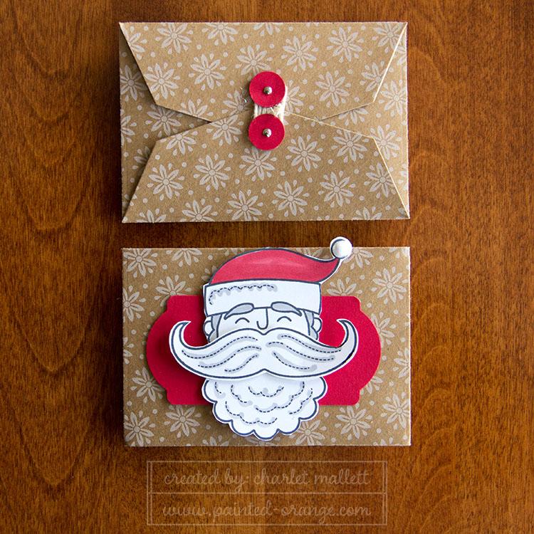 Santa Stache Gift Card holder