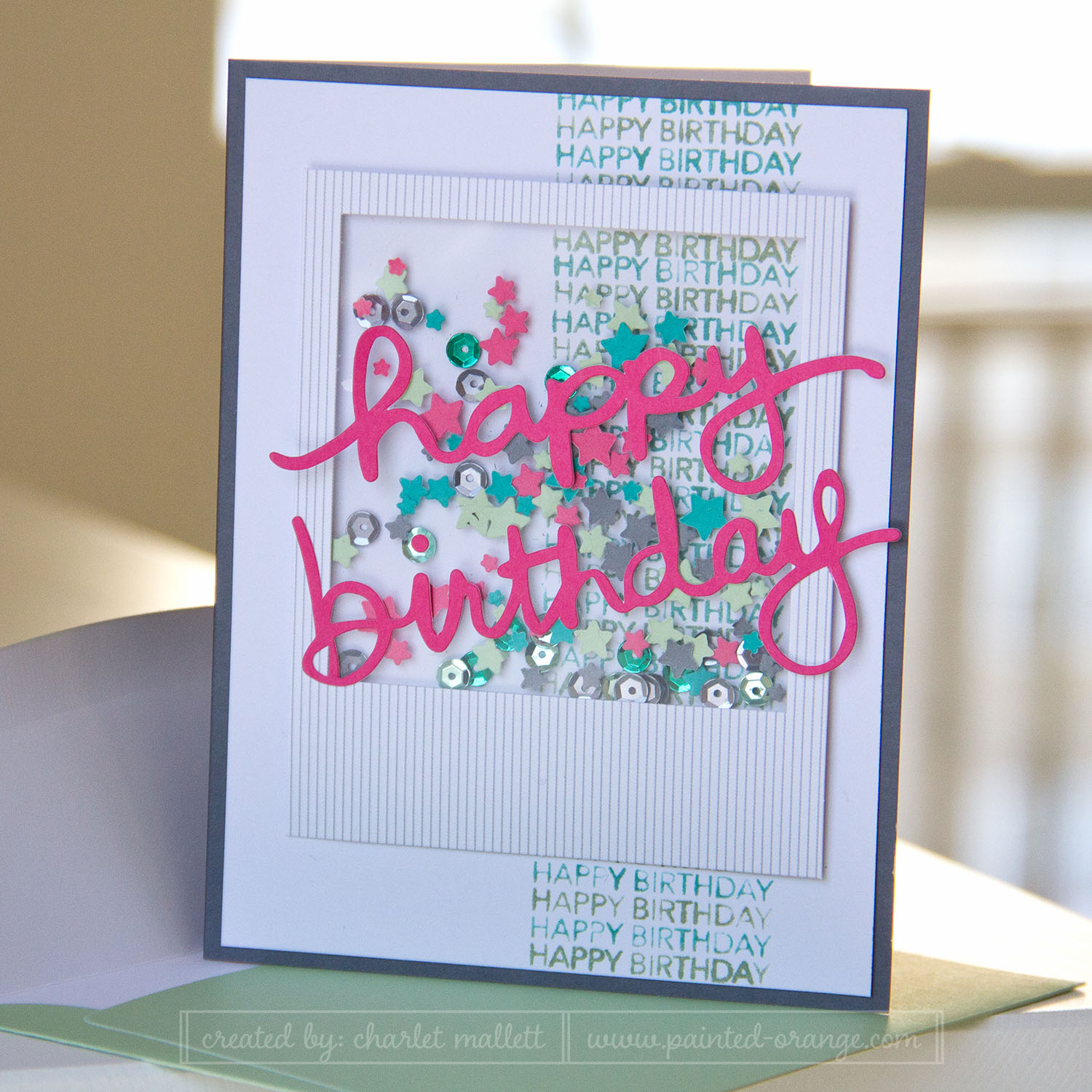 Happy Birthday altered card from the All Shook Up Paper Pumpkin' Kit
