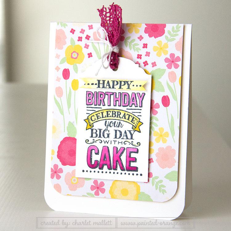 Big Day birthday card in mambo and daffodil