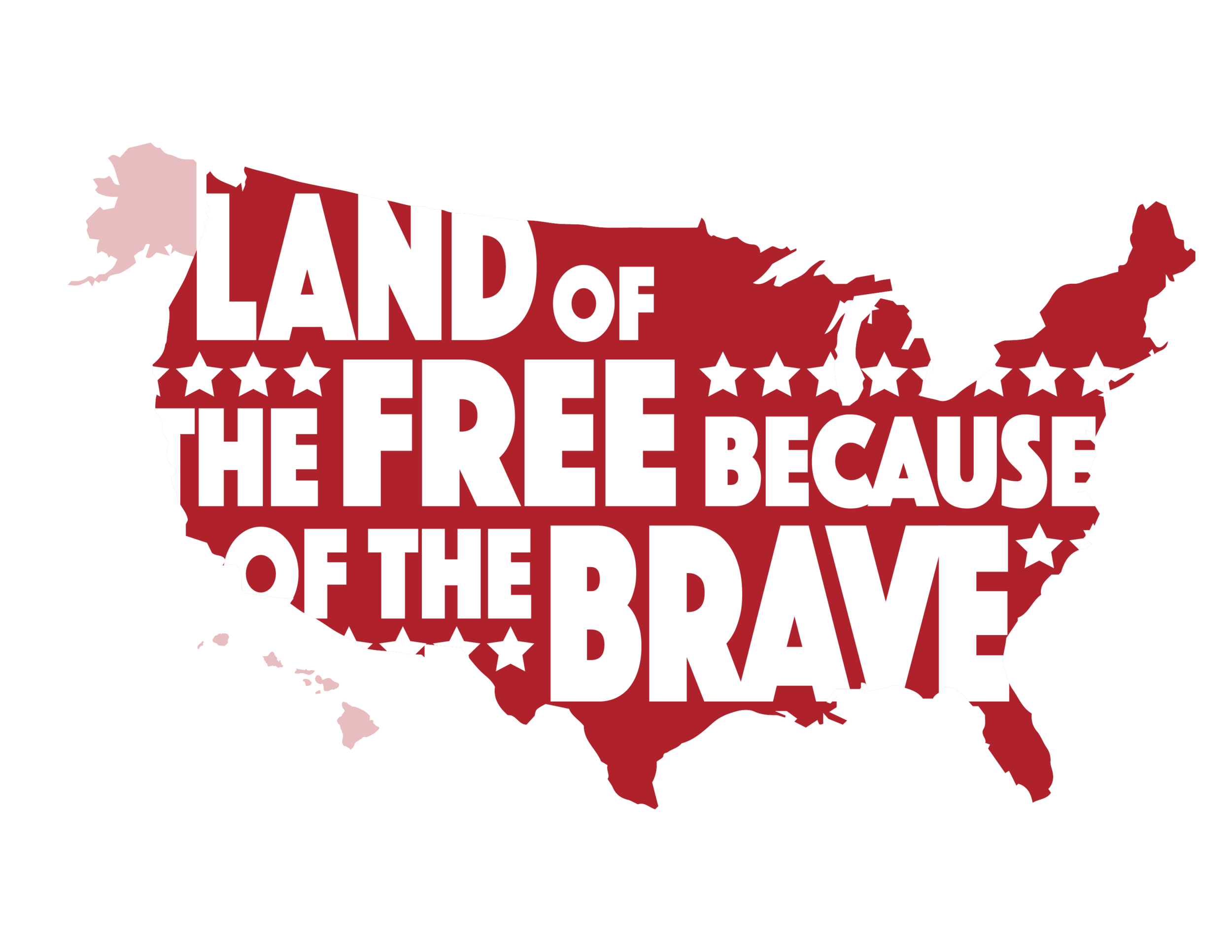 Land of the Free printable artwork from Painted Orange.