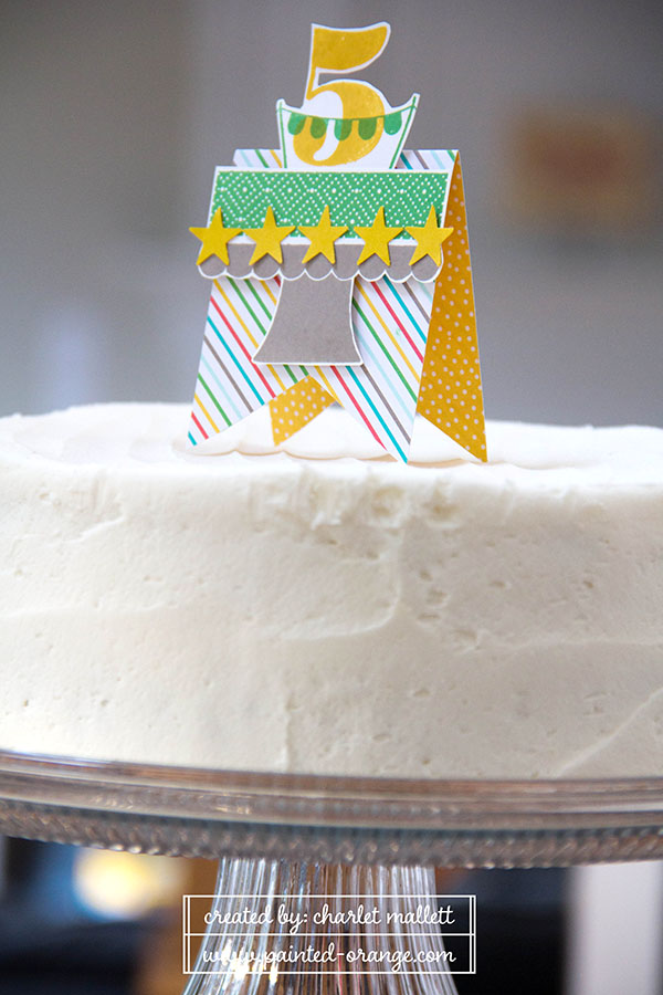 Build A Birthday Cake topper for Nic's cake