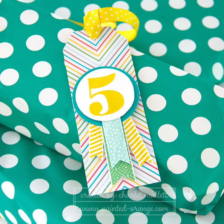 Build A Birthday matching Gift tag