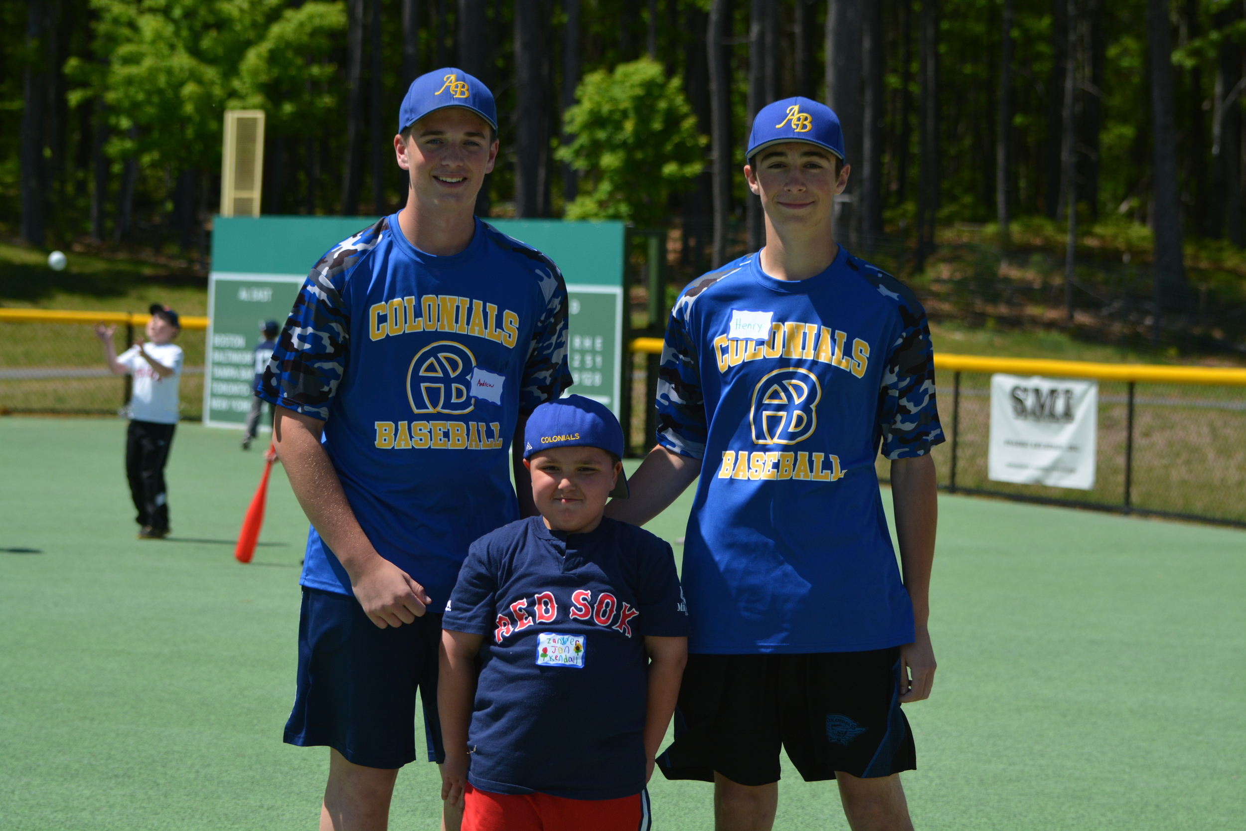 Andrew and Henry at the Miracle League game