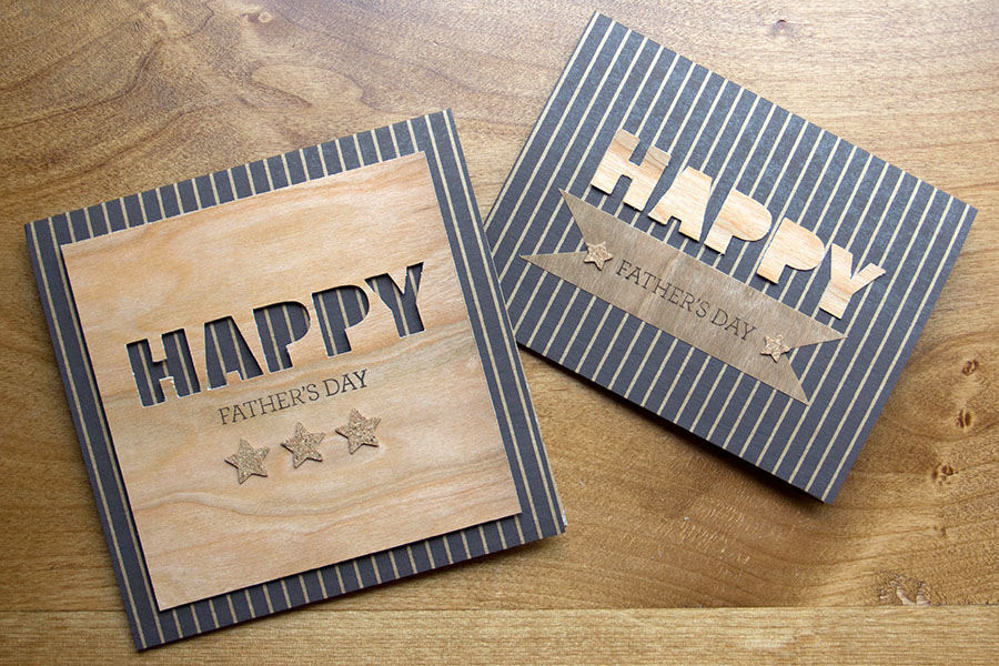 BARC Wood Father's Day Cards