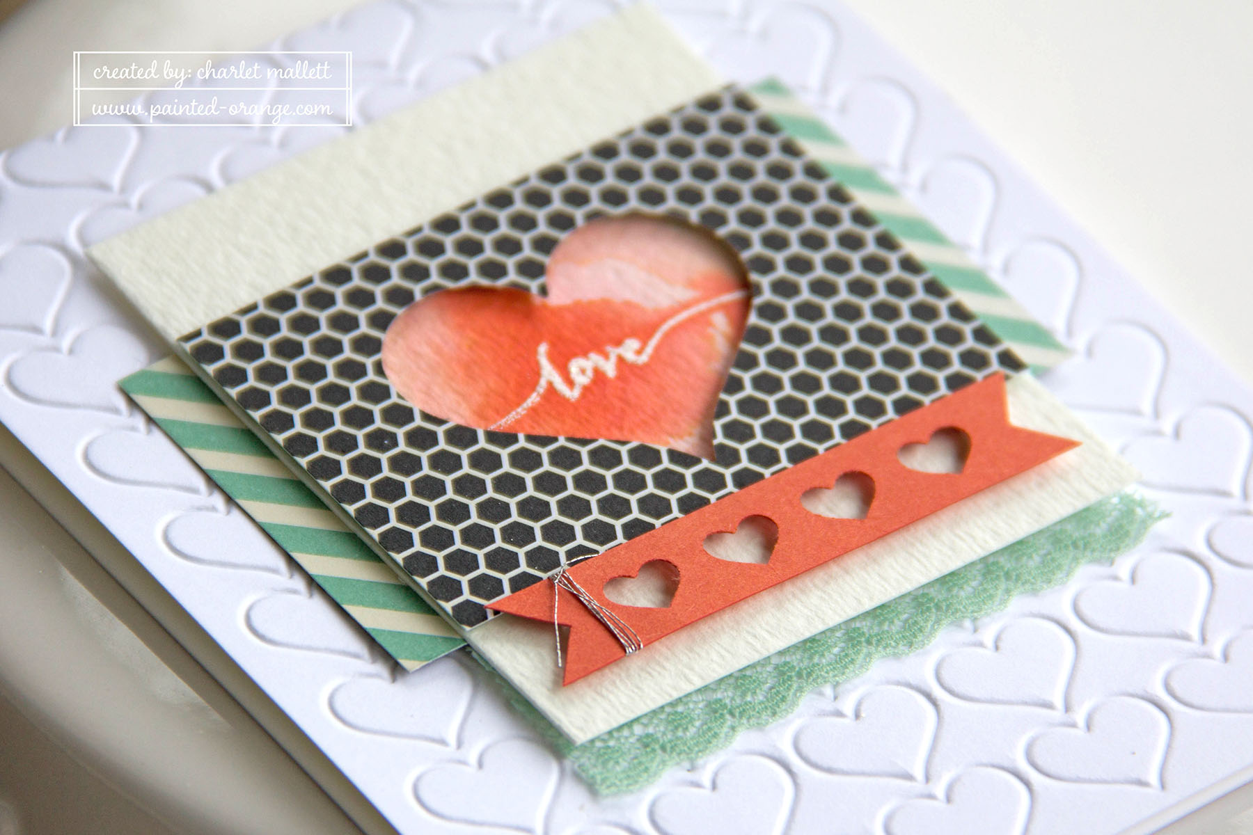 Hello Life Stamp set - Love card. #punchitup Stampin' Up!