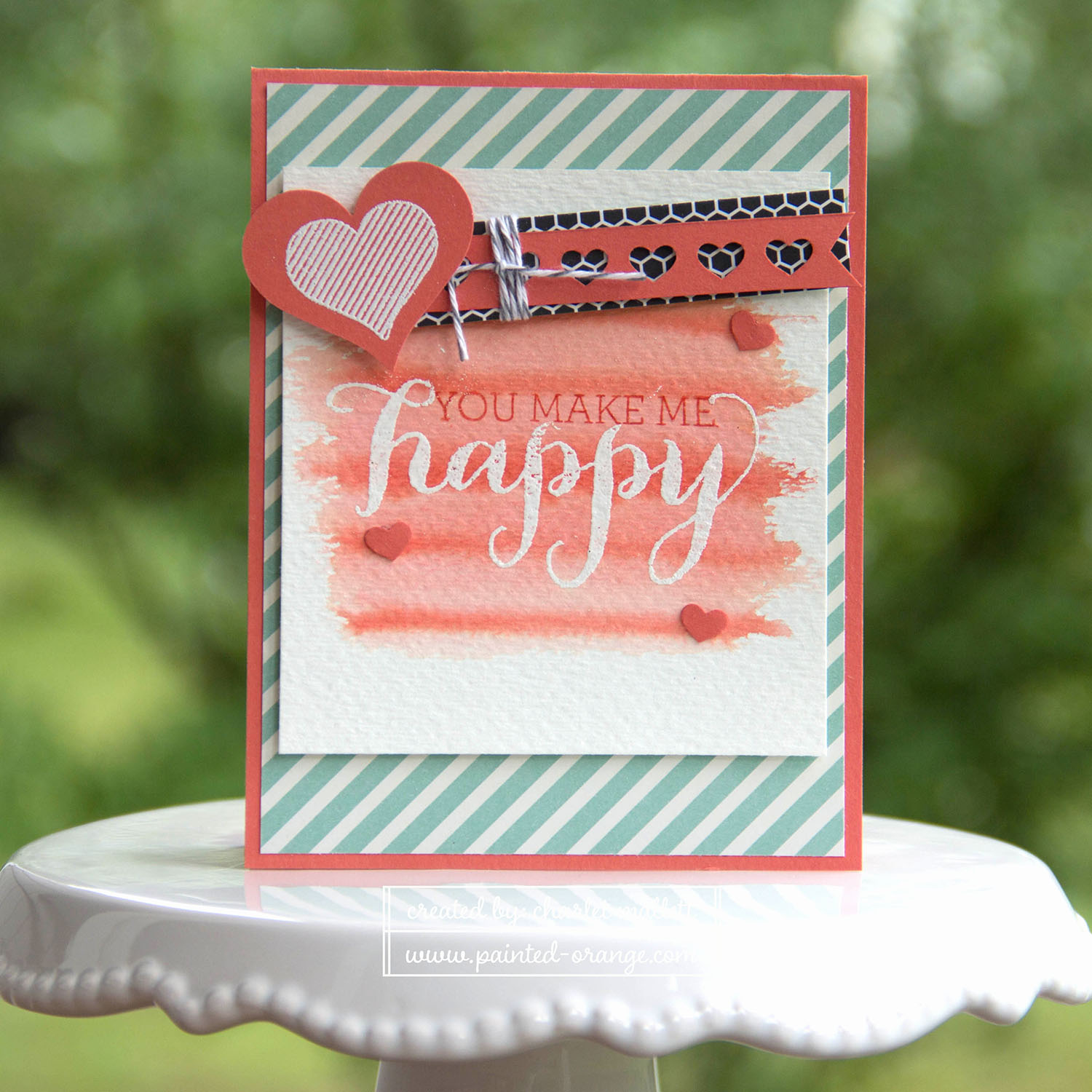 Hello Life Stamp set - You make me Happy card #punchitup Stampin' Up!