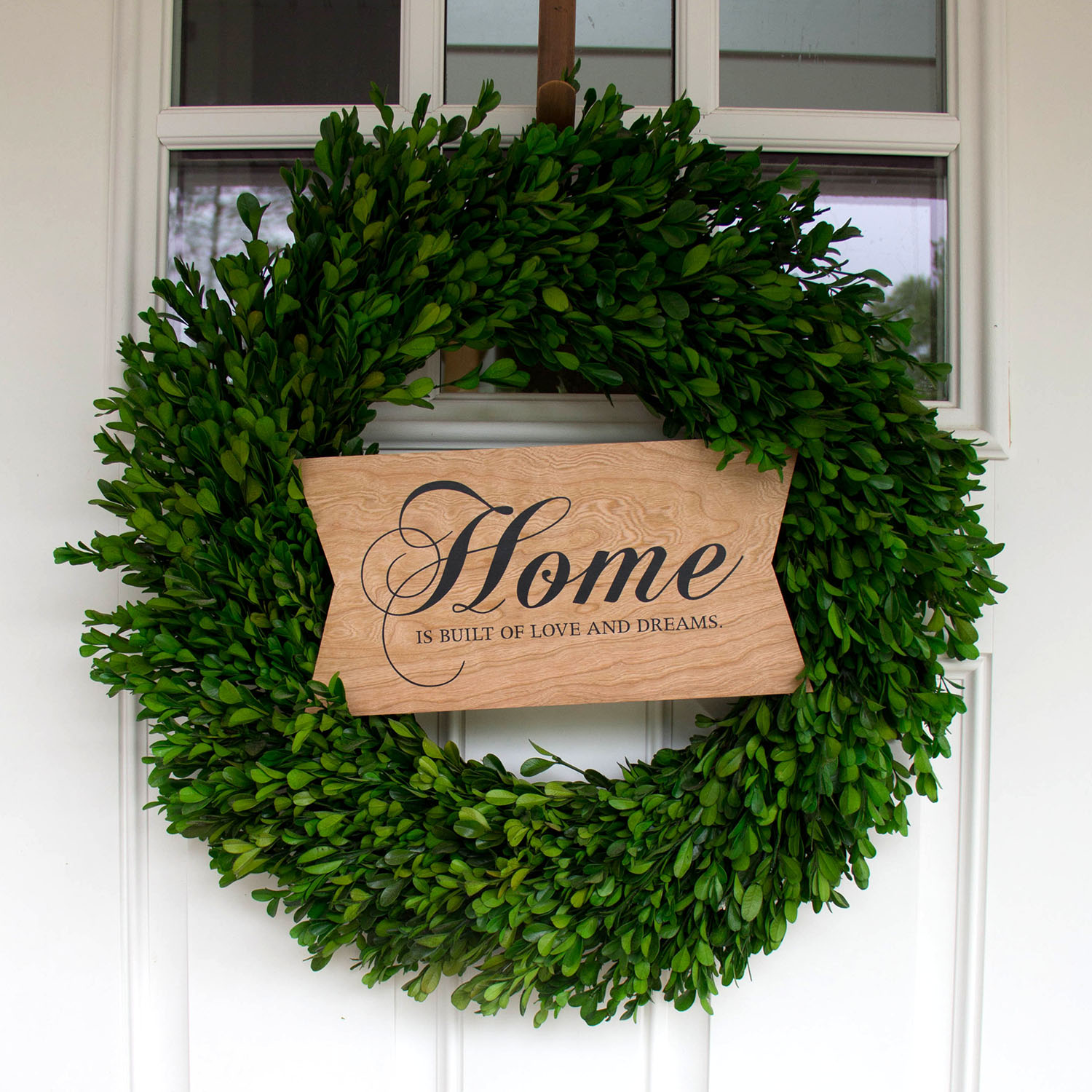 BARC Cherry Wood Home sign