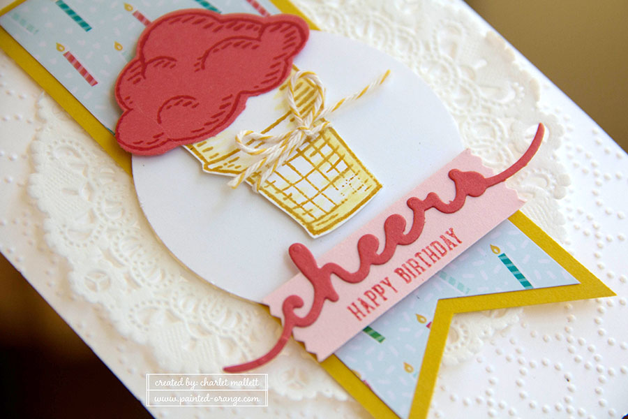 Sprinkles of Life stamp set &Cheers Greeting Thinlet- ice cream cone card