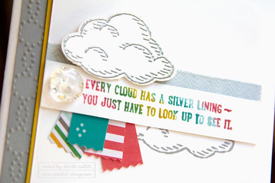 Sprinkles of Life stamp set. Cloud and rainbow.