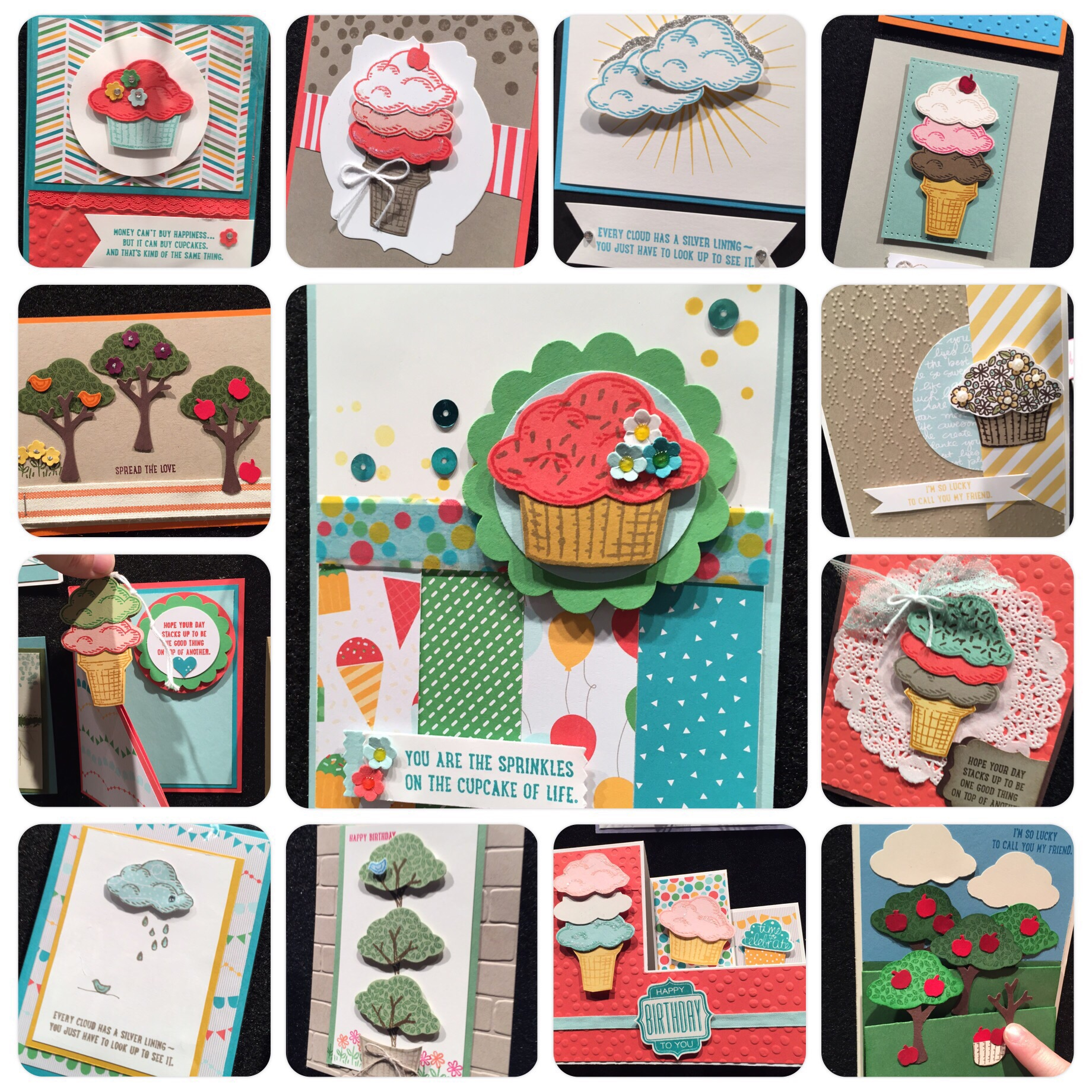 Snippets of display samples from ' Sprinkles of Life'  Stampin' Up!