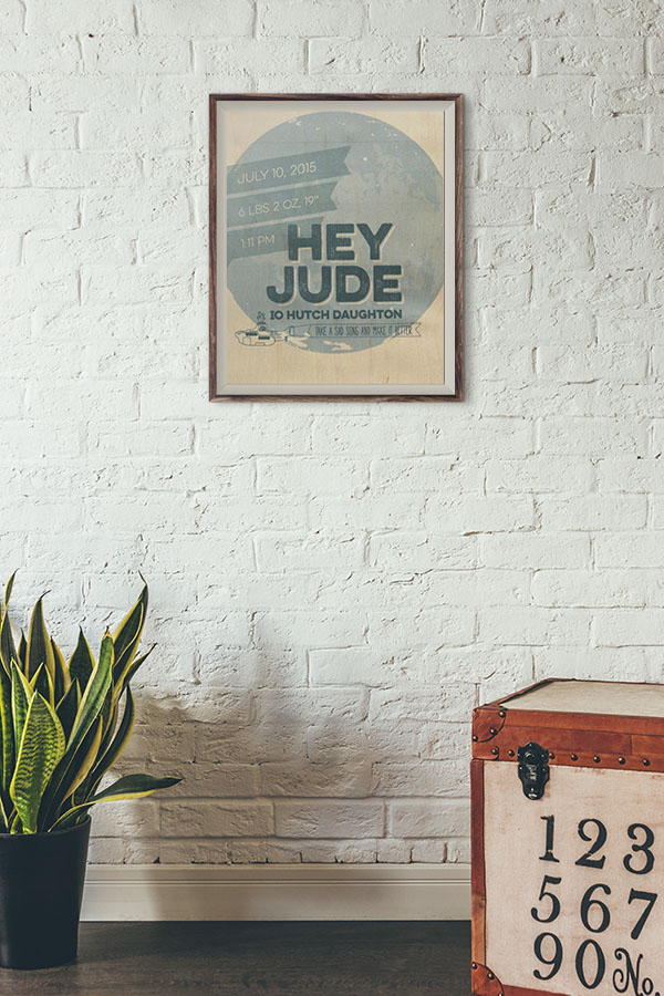 Hey Jude BARC Wood poster