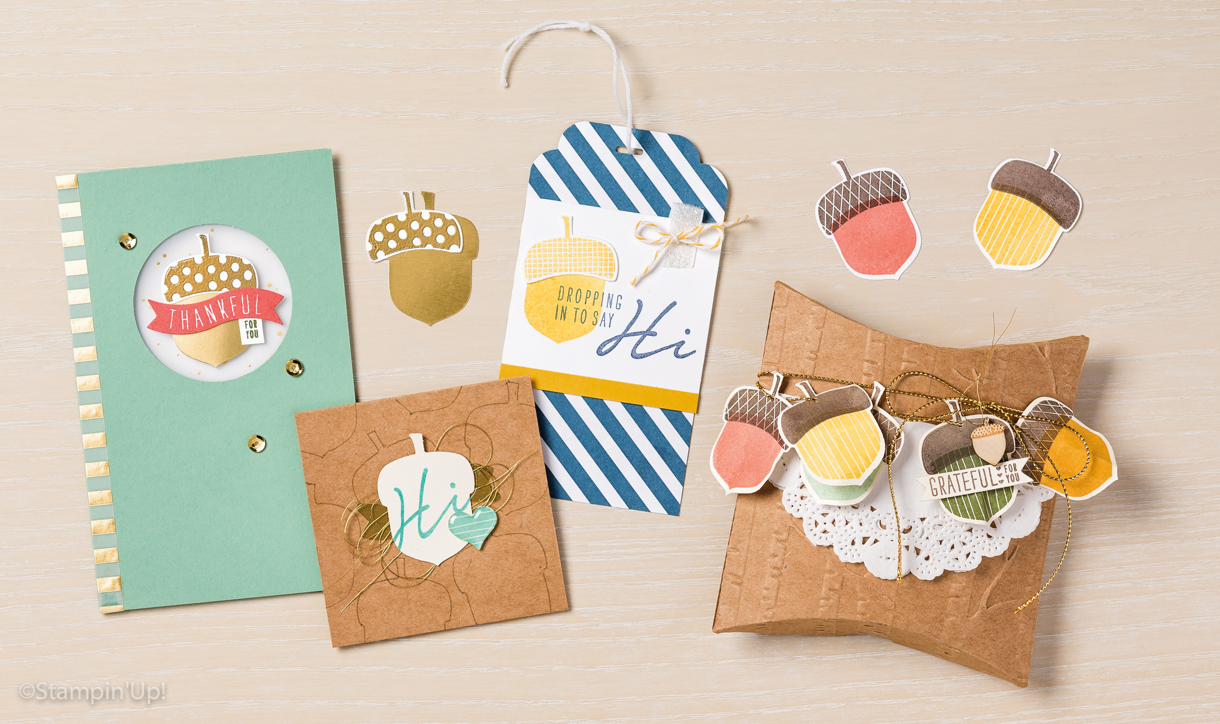 More cute ACORNY sample inspiration from the Stampin' Up! holiday catalog