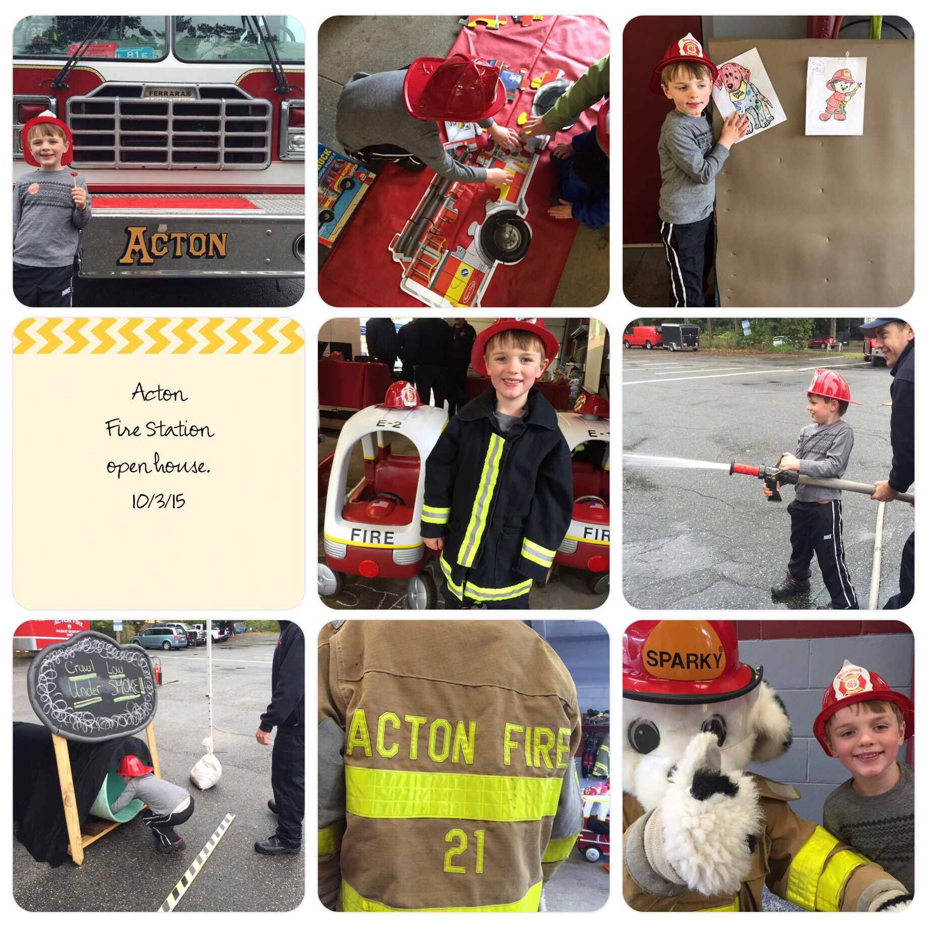 Nic had a blast at the Fire Station open house. We might have a future fire fighter on our hands.
