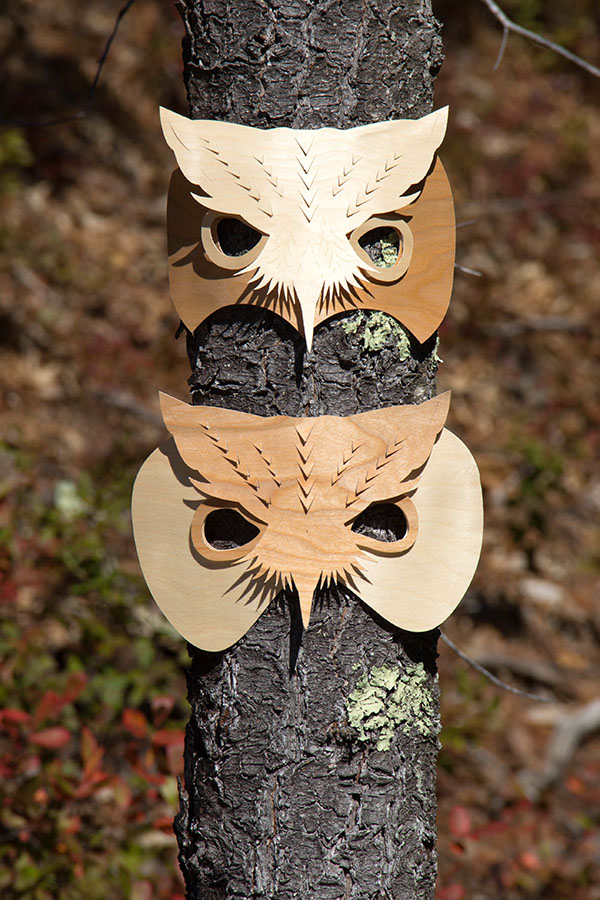 Wood Owl Masks