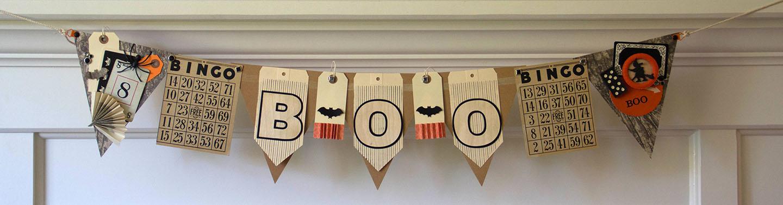 Boo Halloween BARC Wood Banner